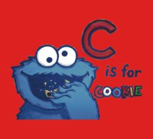 C is for Cookie Monster Kids Tee