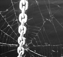 """""""Bondage"""" aka """"Chain of Custody"""" aka """"The Chains That Bind You"""" - Black & White by Deb  Badt-Covell"""