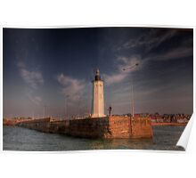 Light on the Harbour Wall Poster