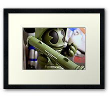 It's dangerous alone! Take this! Framed Print