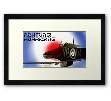 Achtung! Hurricane Framed Print