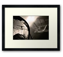 Running in to Display Framed Print