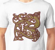 Celtic knotwork green dragon  Unisex T-Shirt