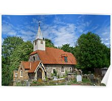 St Laurence Church Cowley Middlesex Poster
