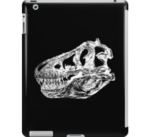 Dinosaur: T-Rex - White Ink iPad Case/Skin