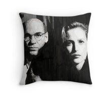 Scully and Skinner Throw Pillow