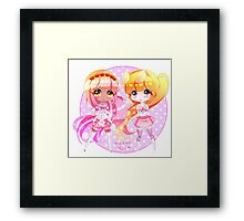 Chibi cuties! Framed Print