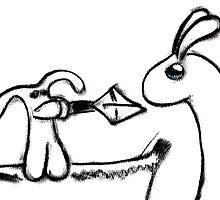 dragonslayer bunny by LucilleJane