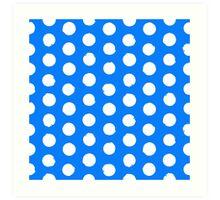 Classic blue and white polka dots Art Print
