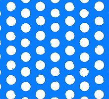 Classic blue and white polka dots by tukkki