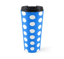 Classic blue and white polka dots Travel Mug