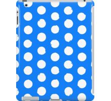Classic blue and white polka dots iPad Case/Skin