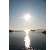 deception pass at sunset Photographic Print