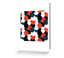 Bold geometric pattern with randomly colored circles Greeting Card