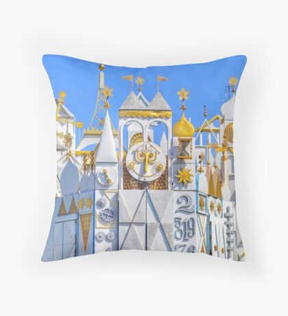 it's a small world Throw Pillow