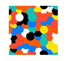 Print with big circles in bight multiple colors Art Print