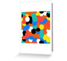 Print with big circles in bight multiple colors Greeting Card