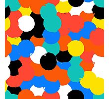 Print with big circles in bight multiple colors Photographic Print