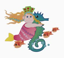 The mermaid and the sea horse by walstraasart