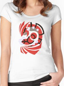Scorching Earth - Groudon  Women's Fitted Scoop T-Shirt
