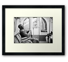Laughter on the Tube Framed Print