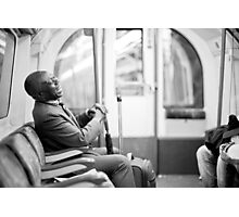 Laughter on the Tube Photographic Print