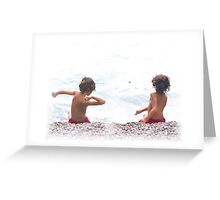 ...and we went skimming stones  Greeting Card