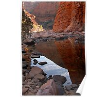 The golden walls of Ormiston Gorge Poster