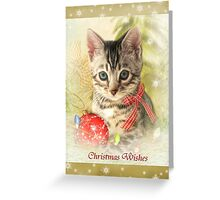 Kitty Christmas Greeting Card