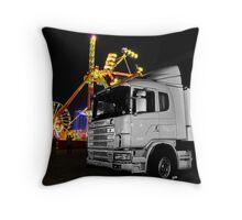 Truck n rides Throw Pillow