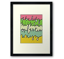 Alphabet (With Color) Framed Print