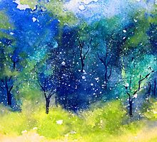 Tree Series - Trees in the Orchard 1 by Heather Holland by Heatherian