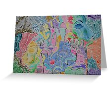 Face to my face.  Greeting Card