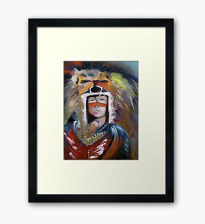 Mayan Leader Framed Print