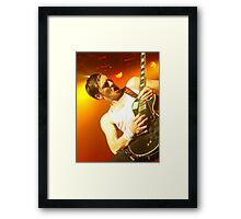 Dan Gillespie Sells Rocks the World Framed Print
