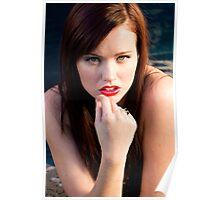 """Megan Marlow - Character celebrity persona Megan Fox, 2009, Montecito, California 3"" Poster"