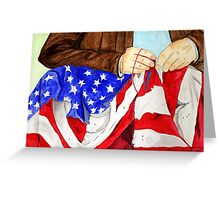 My Sewing the American Flag 2013 Greeting Card