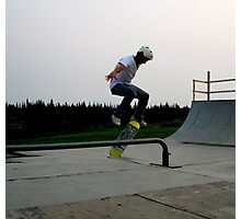 Skateboarding - Caught in Mid-Air Photographic Print
