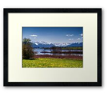 Lake Rieg in Early Spring Framed Print