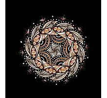 Black and Tan Mandala Photographic Print