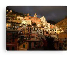 vernazza - hillside Canvas Print
