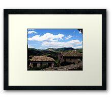 Old Assissi Landscape Framed Print