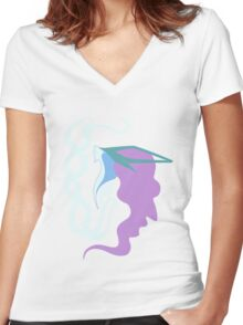 Northern Wind - Suicune Women's Fitted V-Neck T-Shirt
