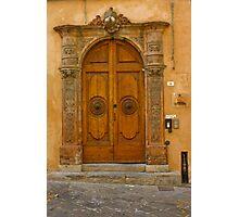 Lucca Doorway Photographic Print