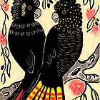 Pair Black Cockatoos by Trish Loader