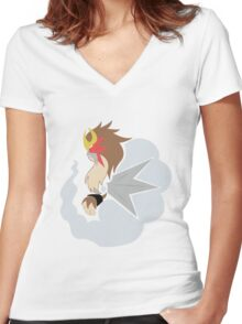 The Illusion - Entei Women's Fitted V-Neck T-Shirt