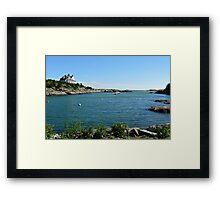 Goose Neck Cove - Newport - Rhode Island Framed Print