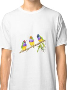 Gouldian Finch Bird citrus green Classic T-Shirt