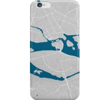 Stockholm city map grey colour iPhone Case/Skin