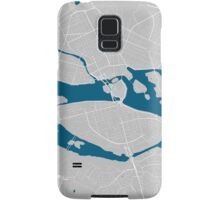 Stockholm city map grey colour Samsung Galaxy Case/Skin